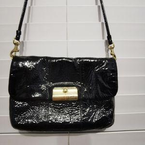 Coach Kristin Black Patent Leather Crossbody Bag